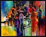 Layers by Charly Palmer - signature artwork of the 2013 Atlanta Jazz Festival