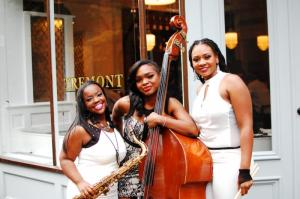 (l to r) Camille Thurman; Mimi Jones; Shirazette Tinnin